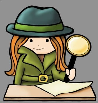 Detectives clip art whimsy. Detective clipart close reading