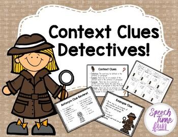 Clues detectives . Detective clipart context clue