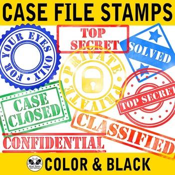 Detective clipart detective case file. Stamps clip art