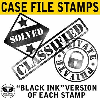 Stamps clip art . Detective clipart detective case file