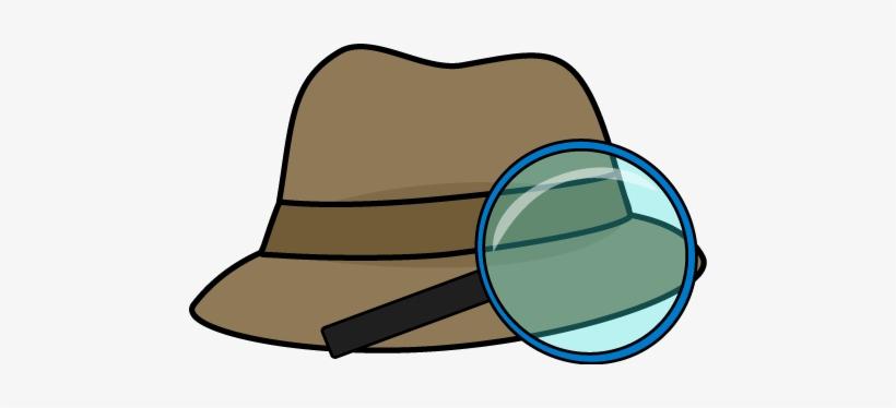 Detective clipart detective hat. Clip art magnifying glass