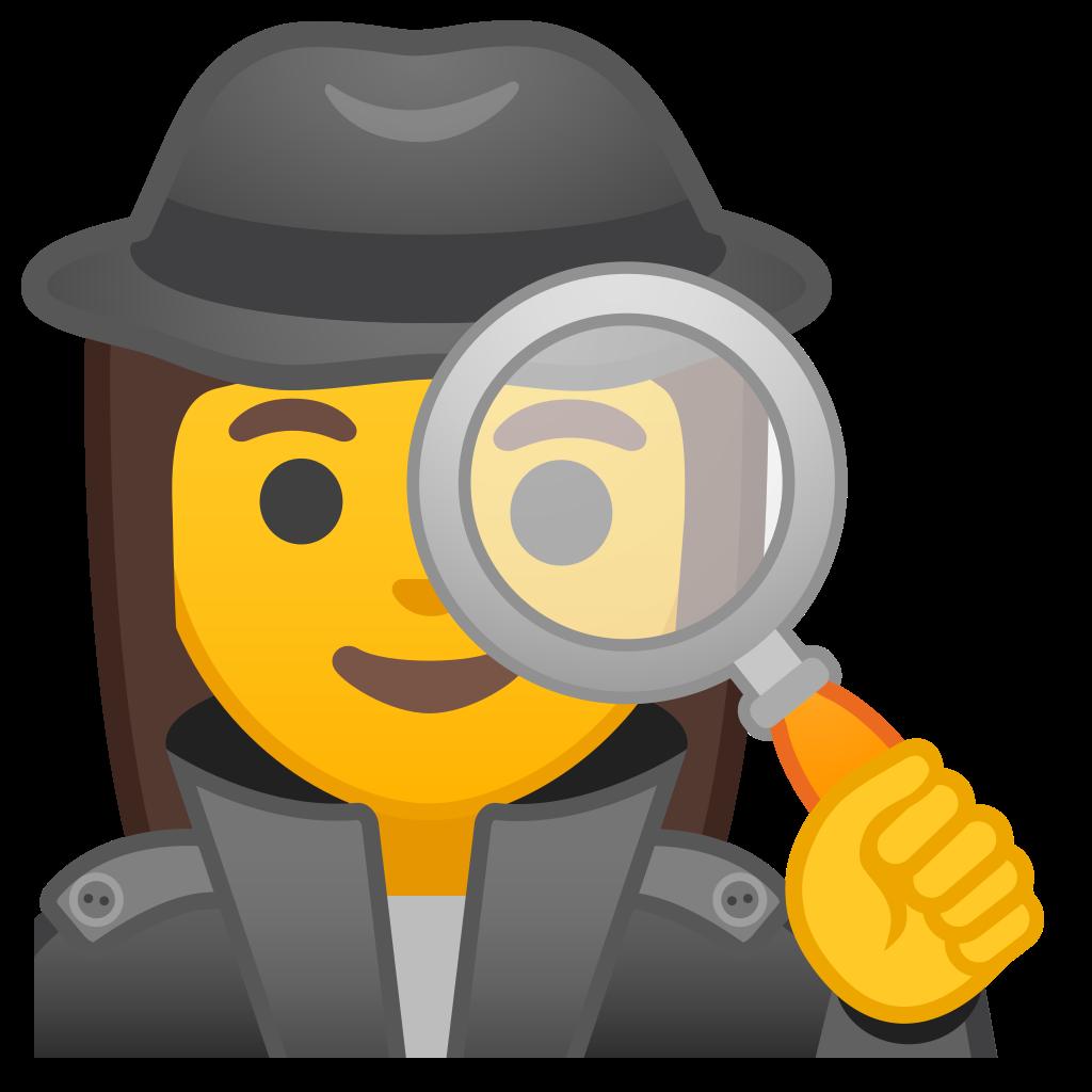 Woman icon noto emoji. Detective clipart female detective