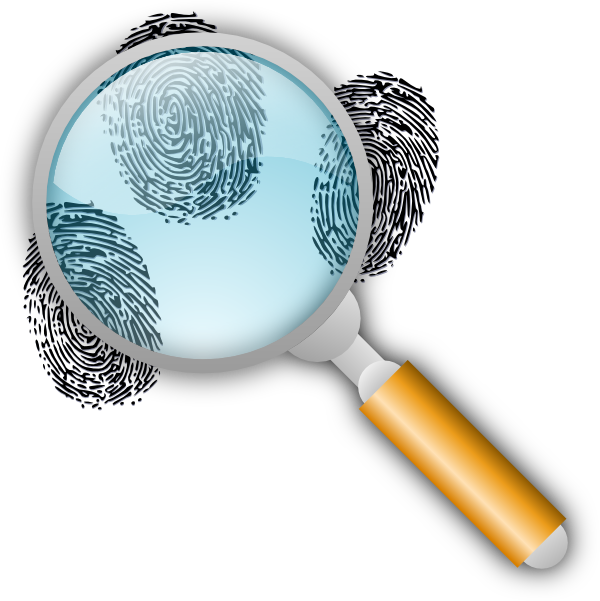 Fingerprint search clip art. Mystery clipart source