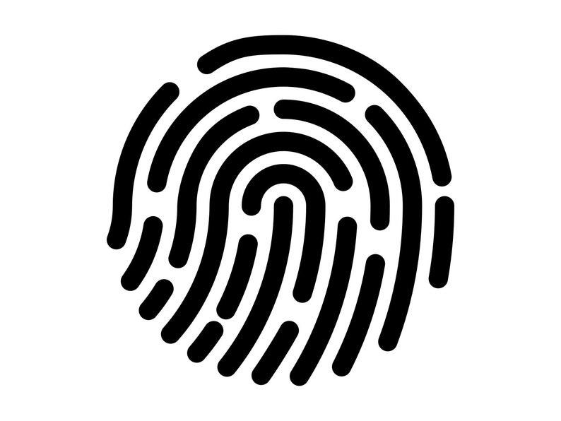 Svg finger print cutting. Detective clipart fingerprint