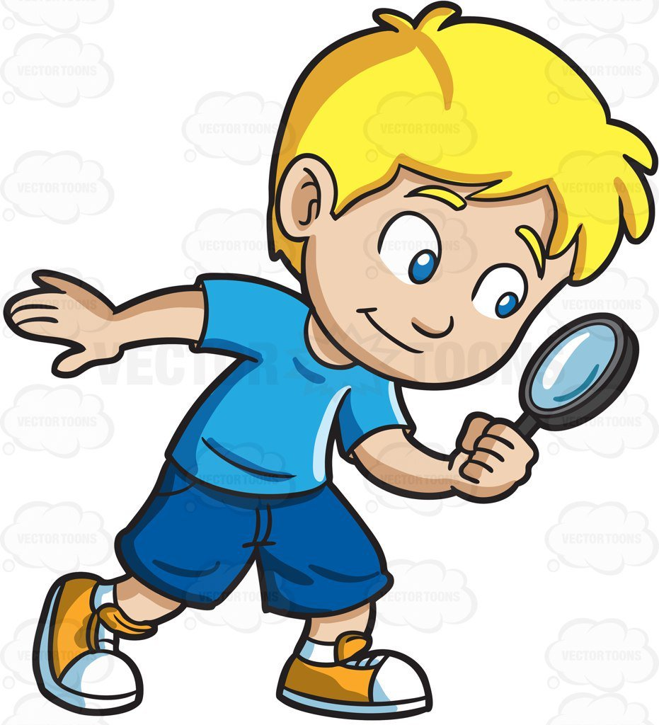 Detective clipart group. A little boy playing