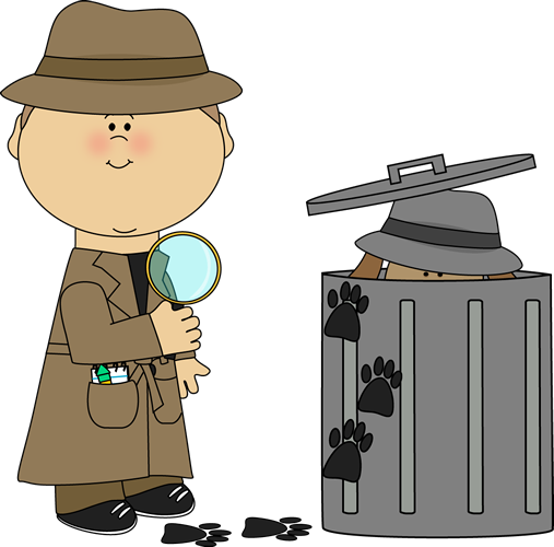 Find the clue looking. Detective clipart group