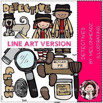 Detective clipart kit. Worksheets teaching resources tpt