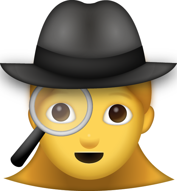 Detective clipart lady detective. Download woman iphone emoji