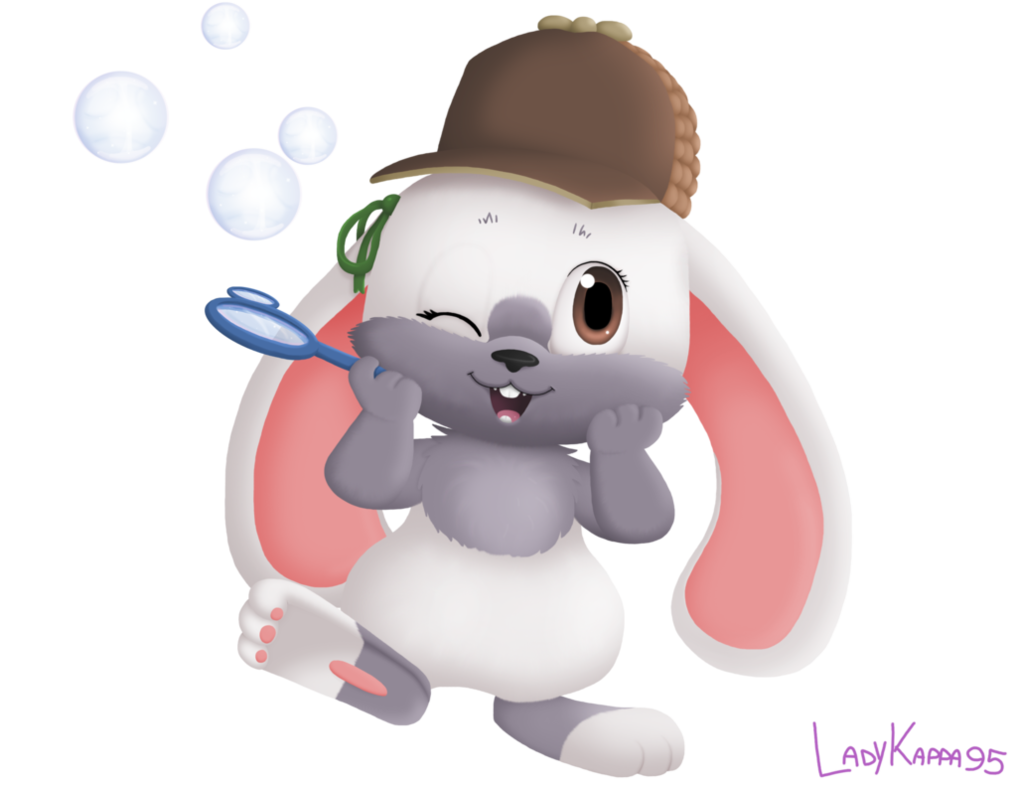 Detective clipart lady detective. Sara the bunny version