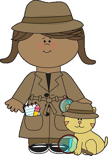Clip art images . Detective clipart lady detective