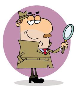 Detective clipart lady detective. Free cartoon image