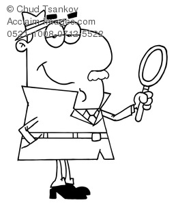 Illustration of black and. Detective clipart legal