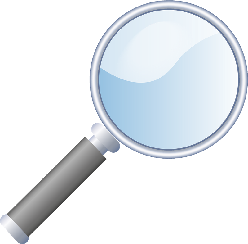 collection of magnifying. Mystery clipart magnifier
