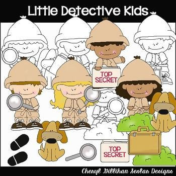 Detective clipart little. Detectives collection my art
