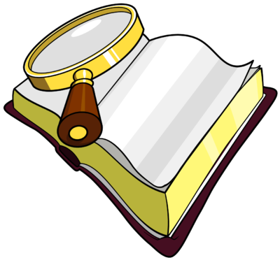 Words clipart lord. Magnifying glass detective collection