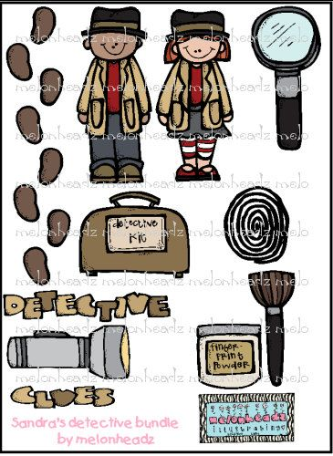 Detectives clip art detective. Mystery clipart minute
