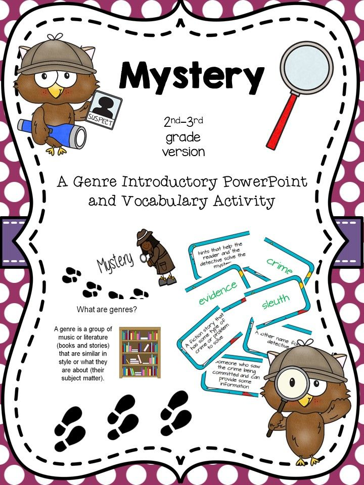 Intro and activity for. Detective clipart mystery genre