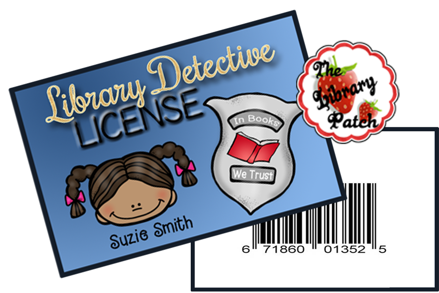 Detective clipart non fiction. Be a library patch