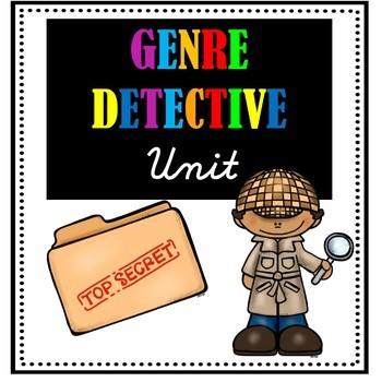 Genre unit bundle teaching. Detective clipart non fiction