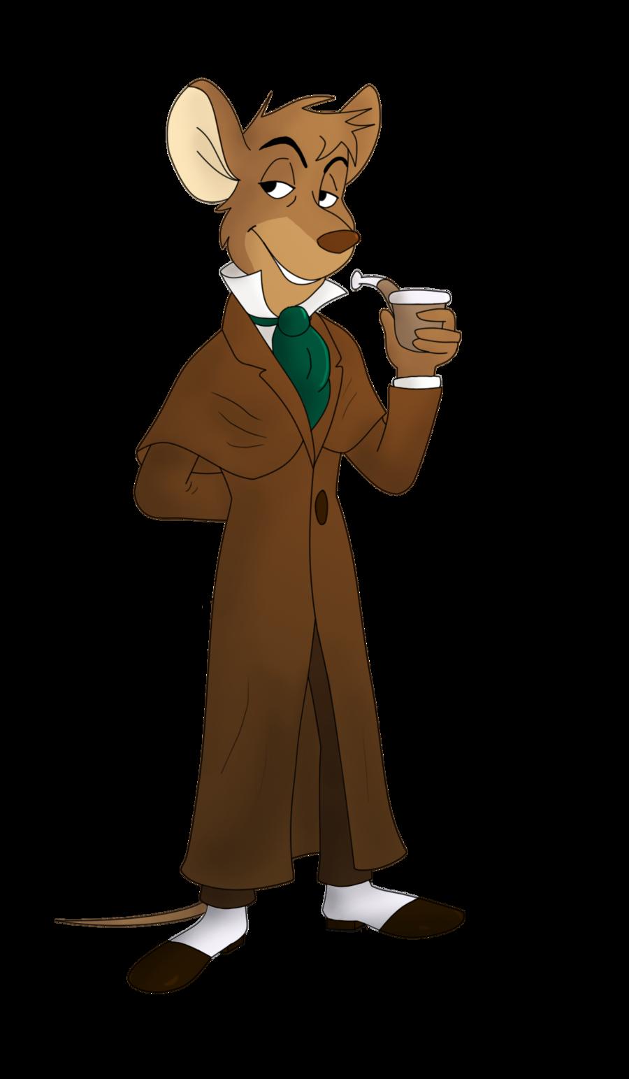 Basil of baker street. Detective clipart observant