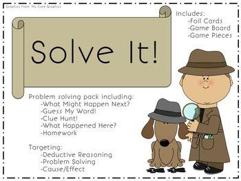 Detective clipart problem solving. Solve it packet speech