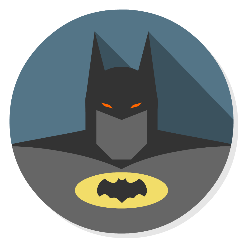 Arkham asylum flat icon. Youtube clipart batman