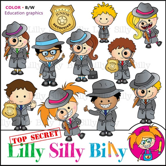 Detective clipart spelling. Education junior lilly silly