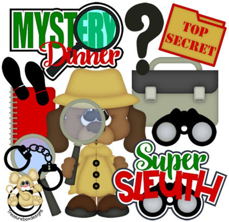 Mystery clipart super sleuth. Detective vector graphics digital