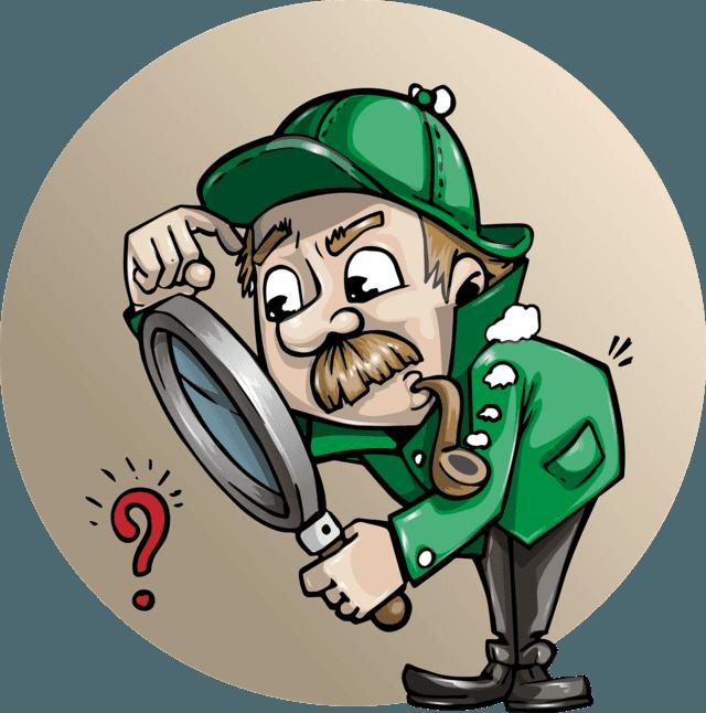 Detective clipart symbol. Virtual assistant help authors