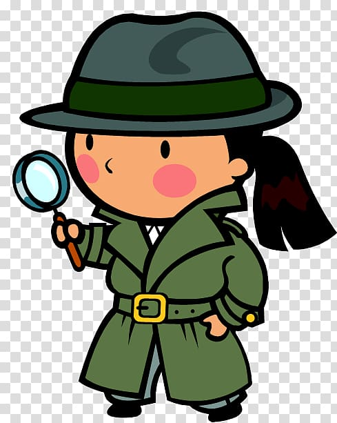 Detective clipart transparent background. Private investigator mystery reading