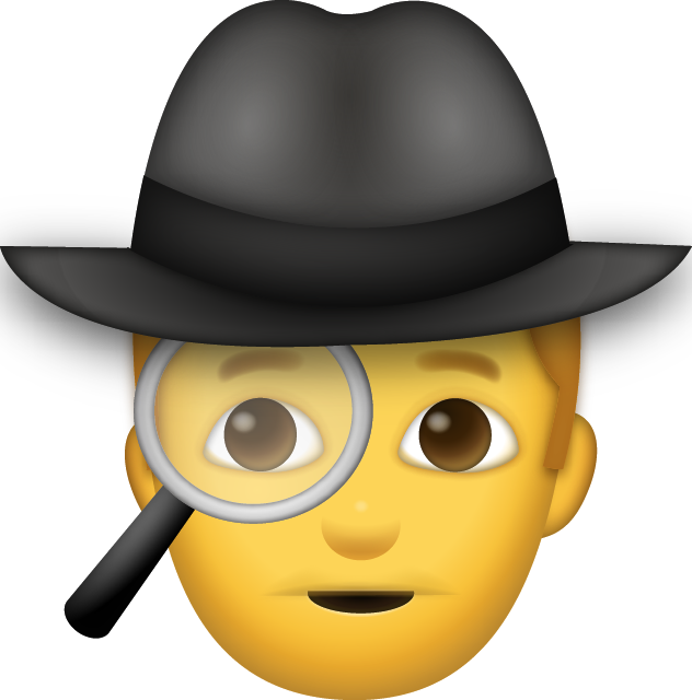 Download man iphone emoji. Detective clipart truth