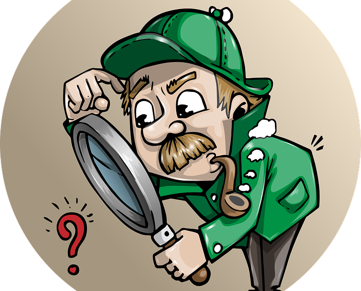 Background check sleuth for. Detective clipart truth