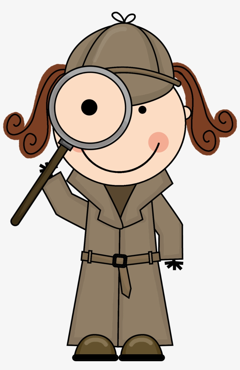 Detective clipart vintage. With magnifying glass