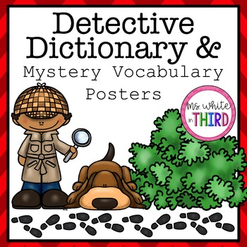 Detective clipart vocabulary. Dictionary mystery posters