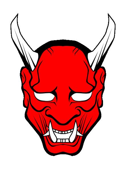 Devil clipart. Red face clip art