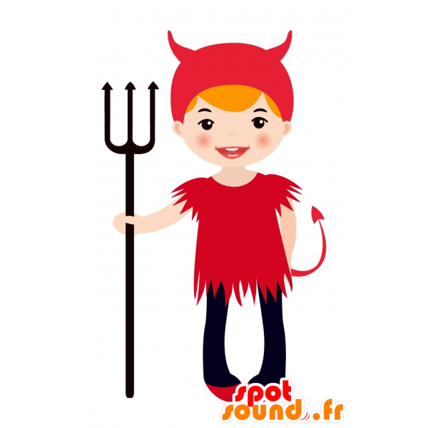 Purchase mascot disguised as. Devil clipart devil child