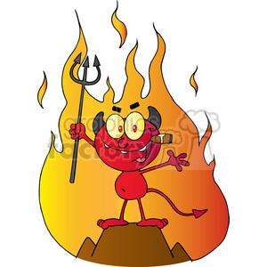 Devil clipart holding pitchfork.  little red up