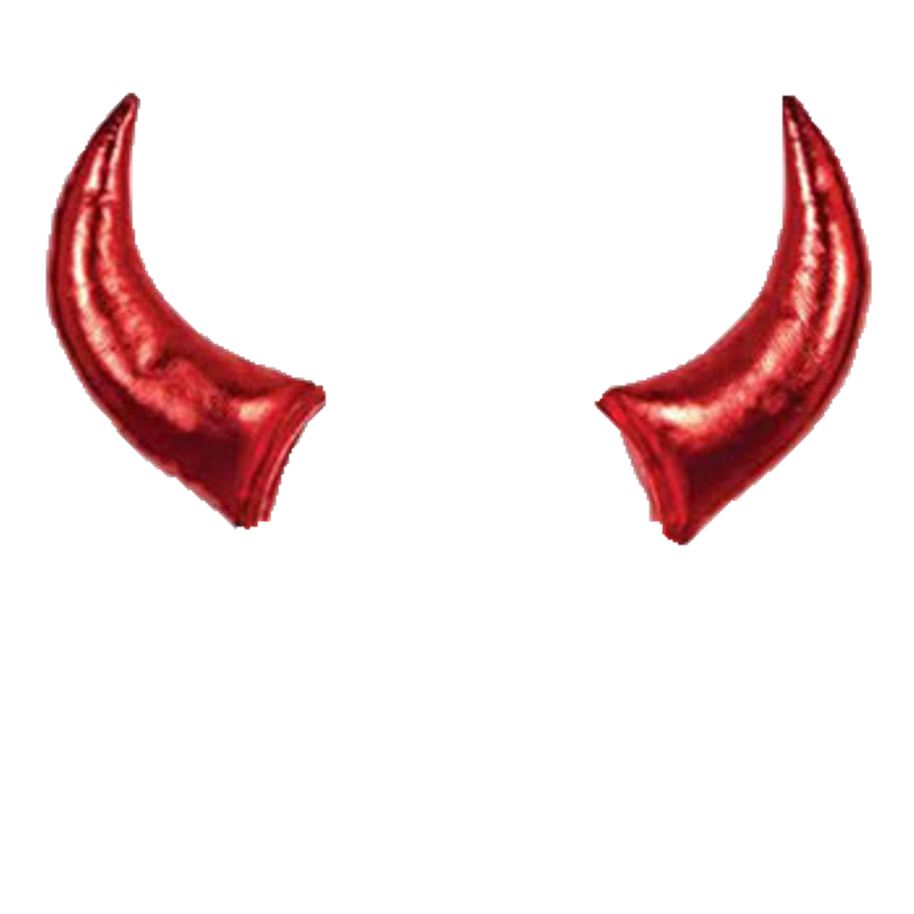 Horn clipart devil. Horns chifres diabo lucianoballack