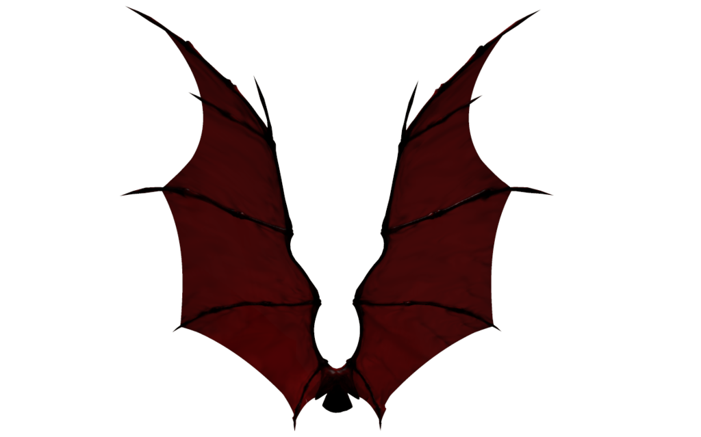 Wing clipart coloring page. Demon wings