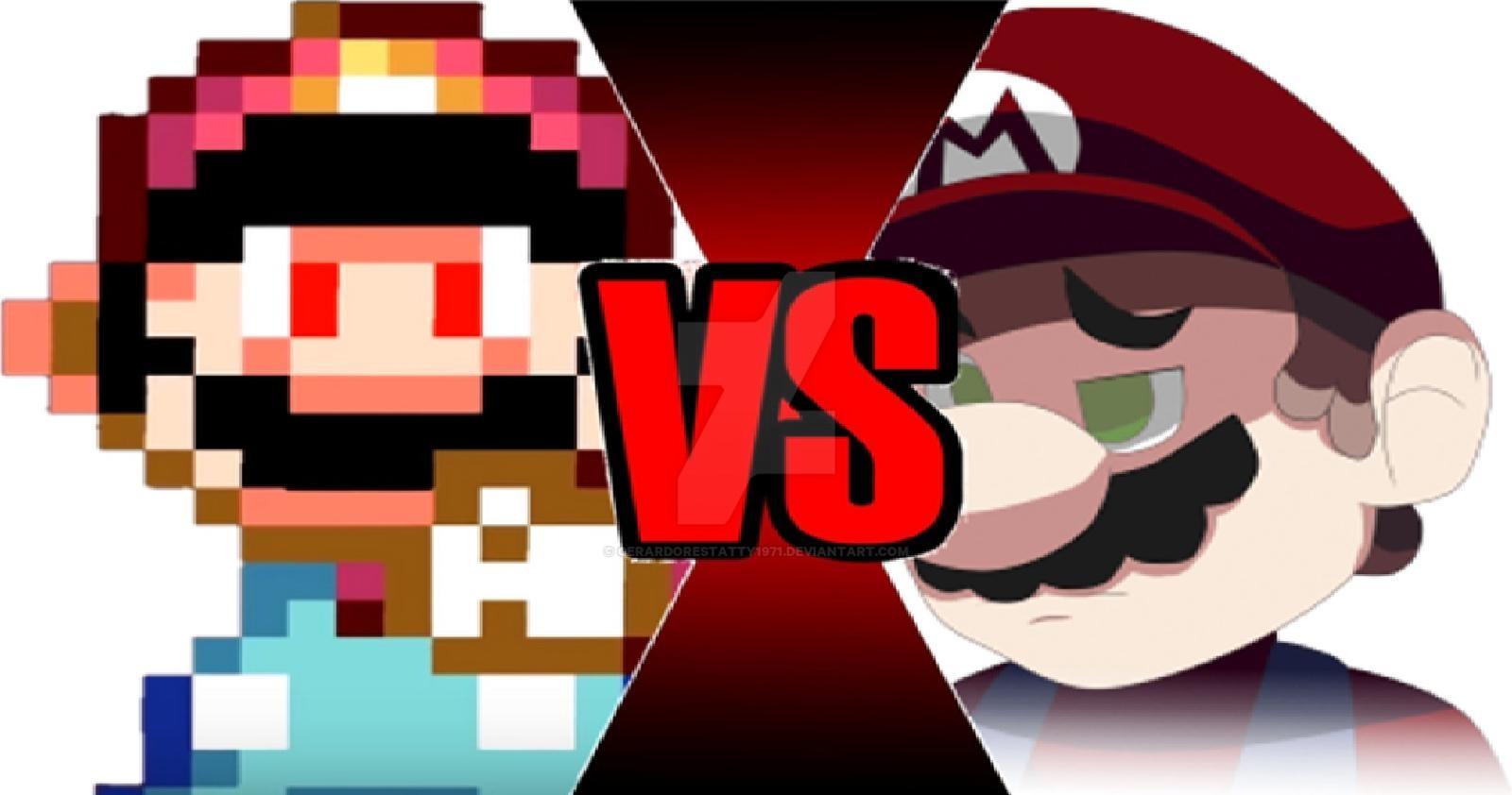 Mario power star vs. Devil clipart malice