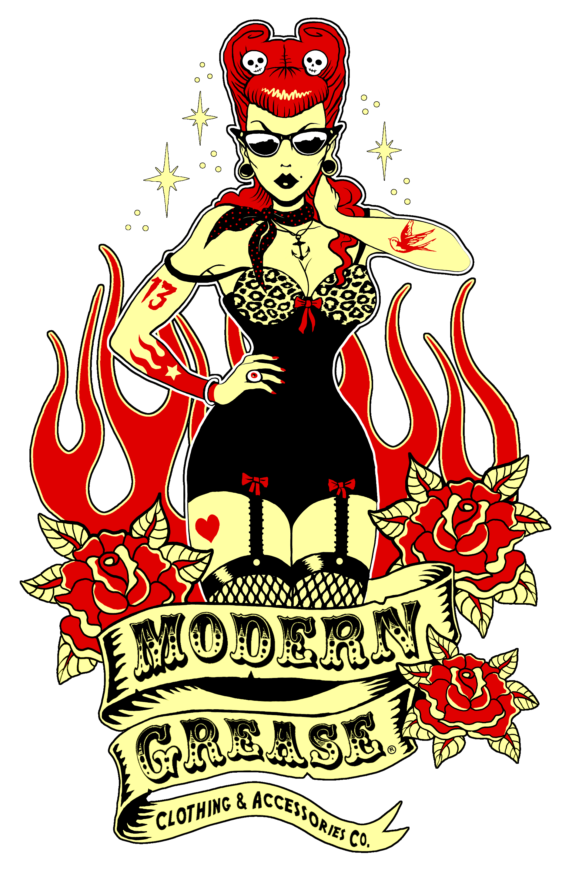 Modern grease clothing co. Devil clipart malice