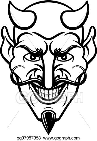 Vector art sports eps. Devil clipart mascot
