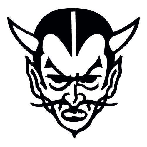 Devil clipart mascot. Banner