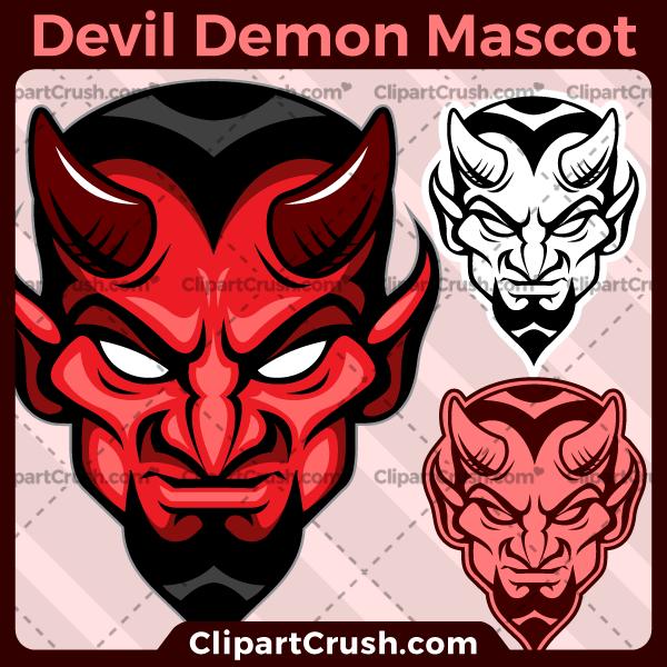 Mascot team logo . Devil clipart red devil