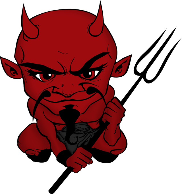 The came for my. Devil clipart red suit