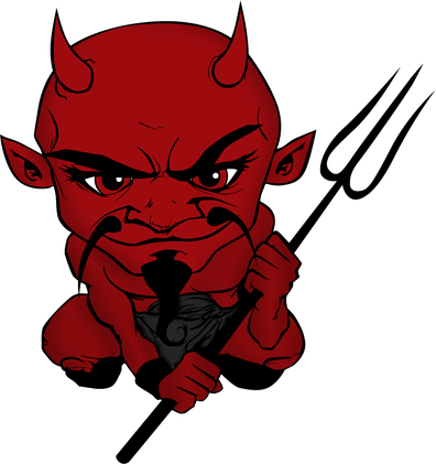 Devil clipart red suit. The came for my