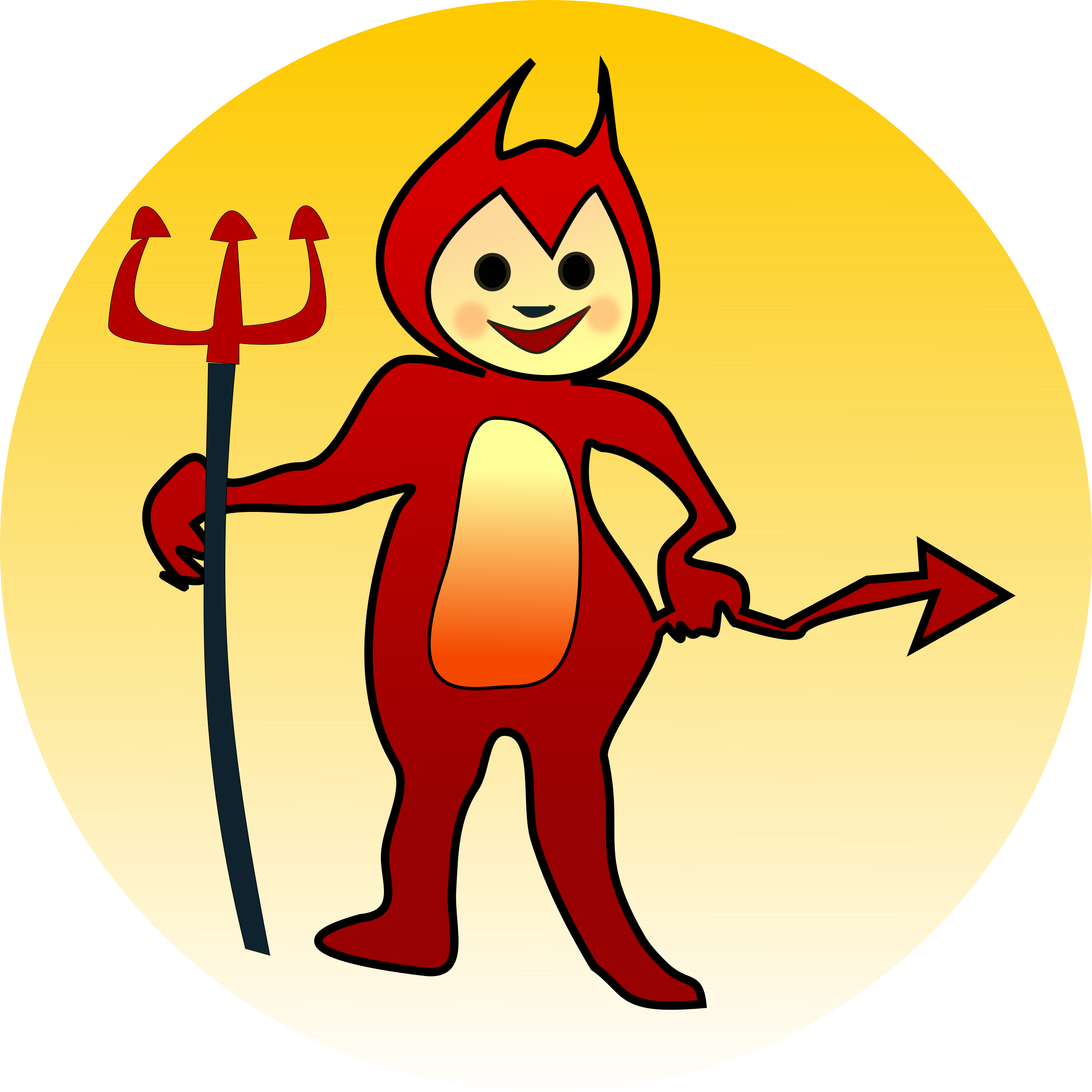 Little devil curious george. Trident clipart small