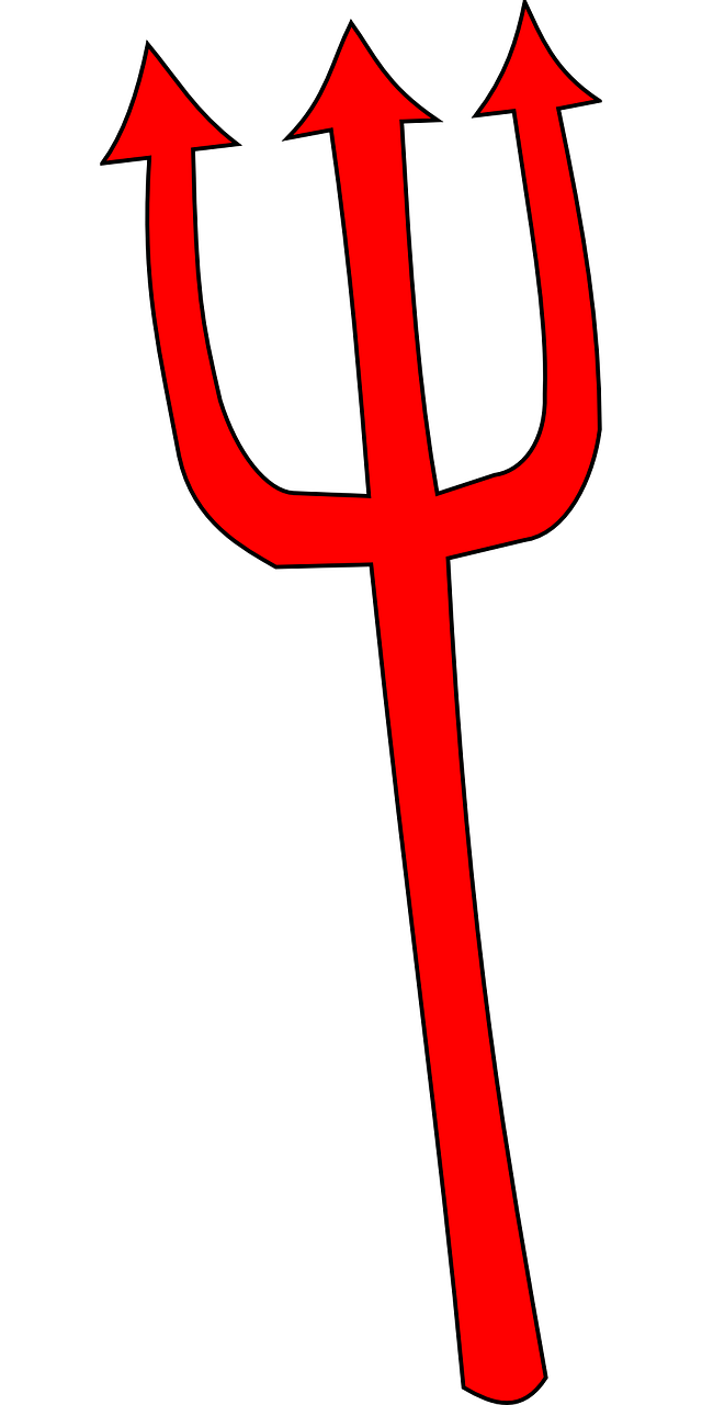 Trident clipart devils. Devil fork clip art