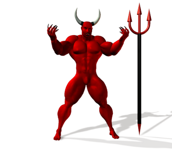 Trident clipart devils. Poser sharecg