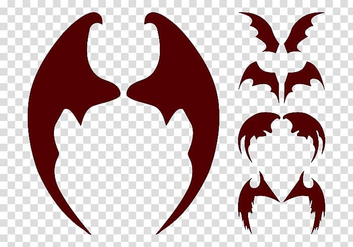 Devil clipart wings. Bat wing development transparent